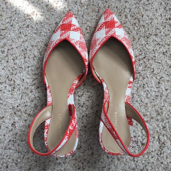 03e33a7cf5 Ann Taylor Shoes | Elora Pipe Gingham Slingback Sz 6 | Poshmark